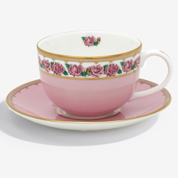 Shell Garden Floral Rose Teacup & Saucer