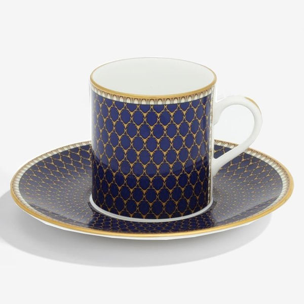 Antler Trellis Coffee Cup & Saucer Midnight