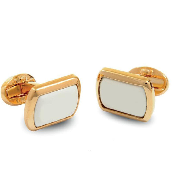 Personalised Monogram Rectangular Gold Cufflinks