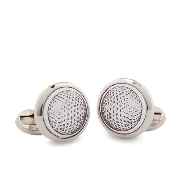 Golf Ball Round Cufflinks