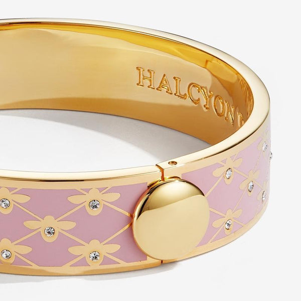 Bee Sparkle Trellis Pink & Gold Bangle