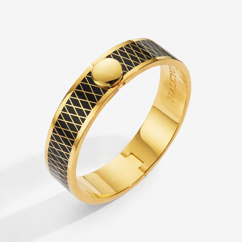 Parterre Black & Gold Bangle