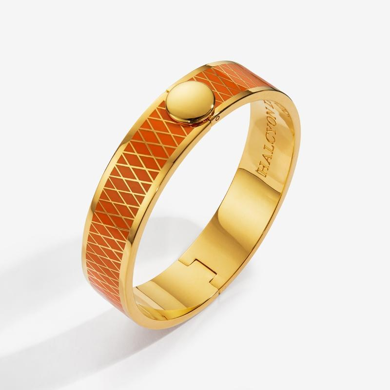 Parterre Orange & Gold Bangle