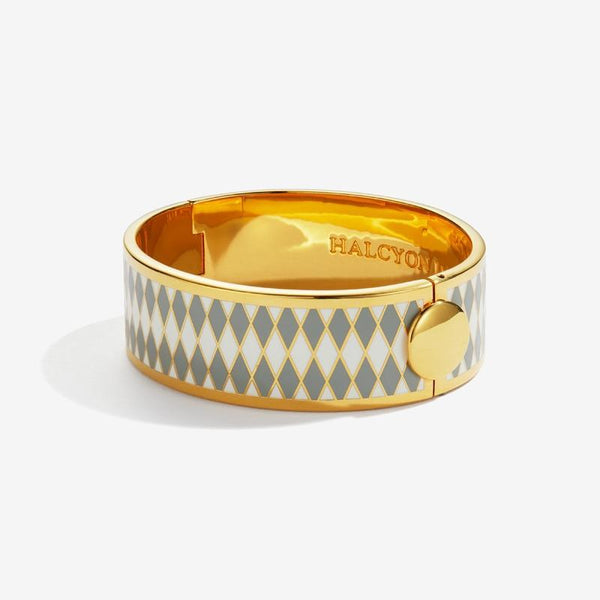 Parterre Grey Cream & Gold Bangle