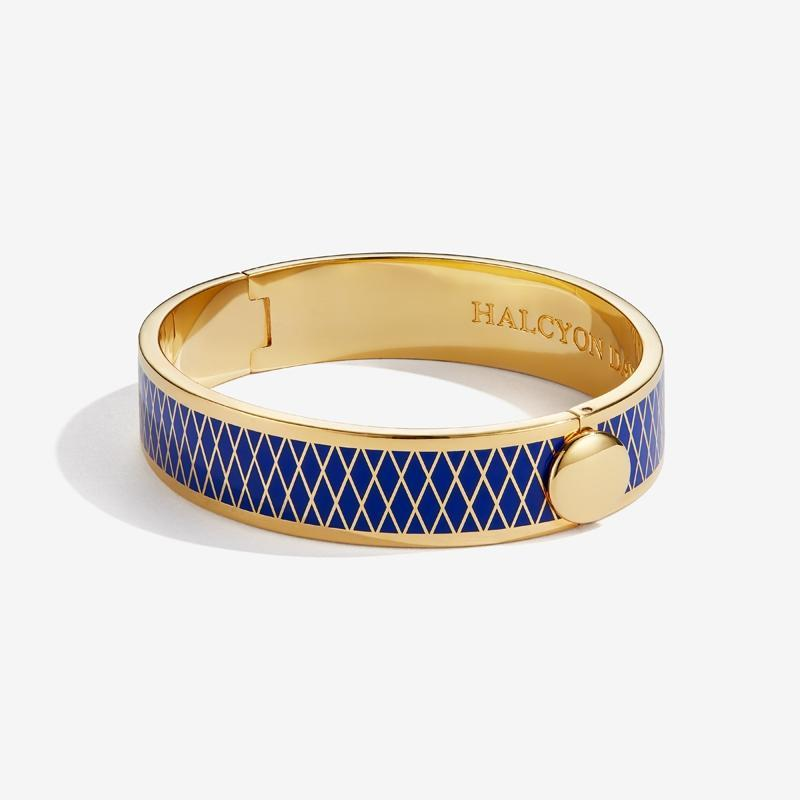 Parterre Deep Cobalt & Gold Bangle
