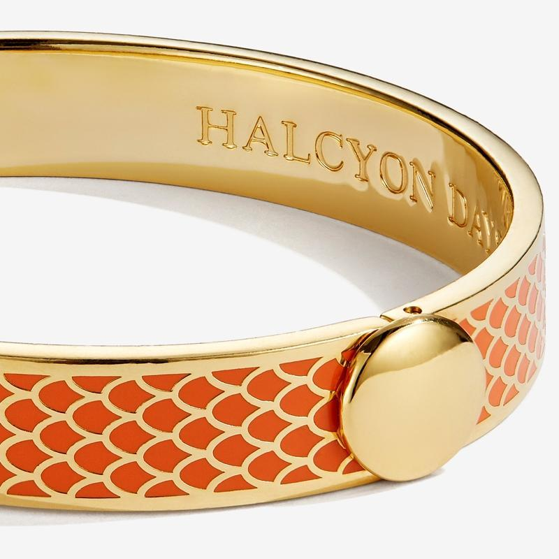 Salamander Orange & Gold Bangle