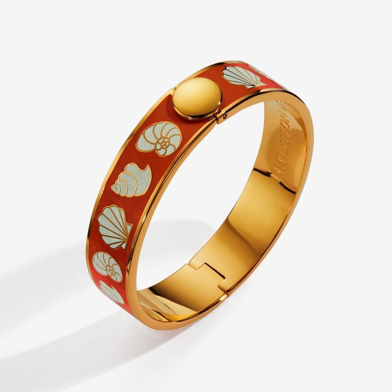 Shells Orange Cream & Gold Bangle