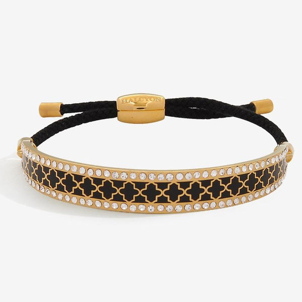 Agama Sparkle Black & Gold Friendship Bangle
