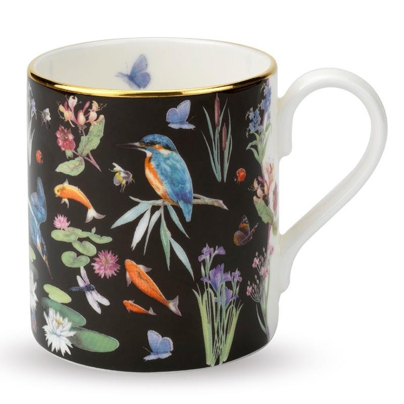 Kingfisher Scatter Black Mug