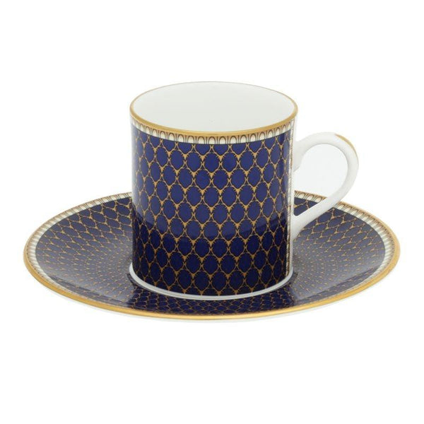 Antler Trellis Coffee Cup & Saucer Set x 6 Midnight