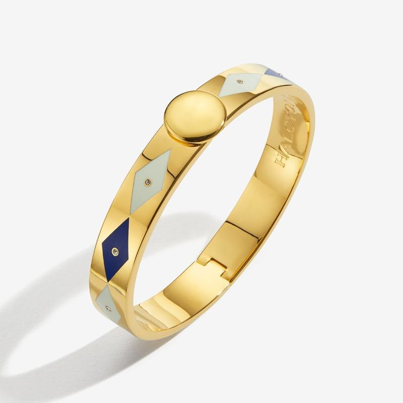 Sparkle Deep Cobalt Cream & Gold Bangle