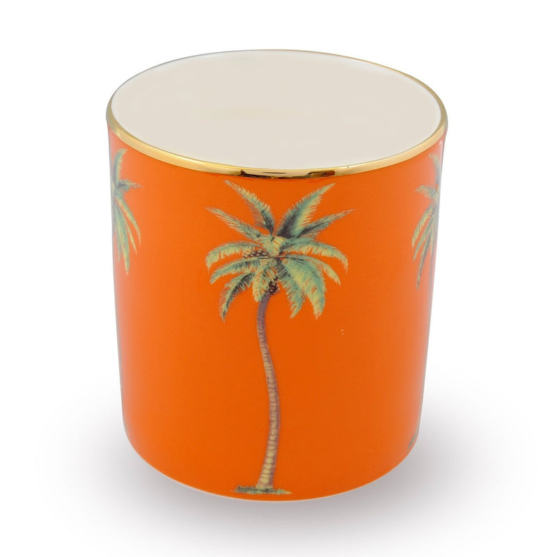 Palm Orange Candle Holder