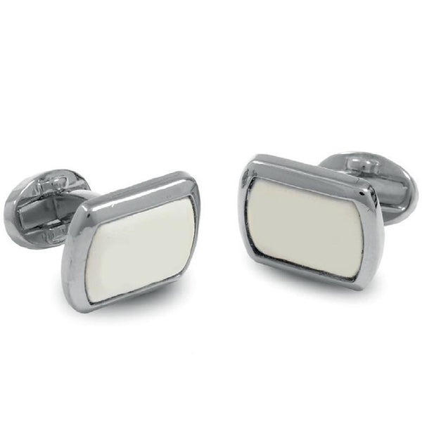 Personalised Monogram Rectangular Palladium Cufflinks