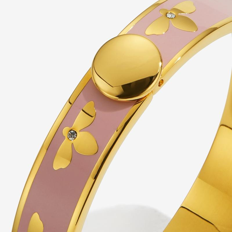 Bee Pink & Gold Bangle