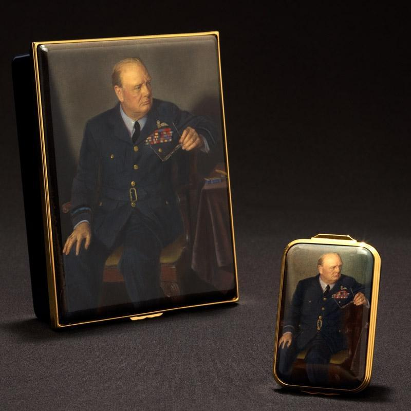 Churchill Portrait by Chandor Prestige Box