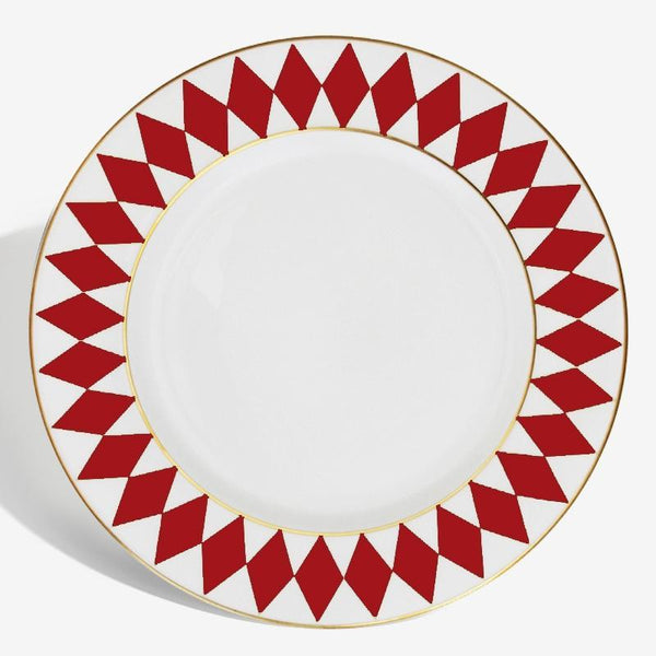 "Parterre 8"" Plate Red"