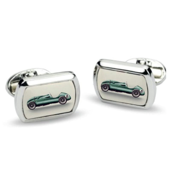Racing Car Rectangular Palladium Cufflinks