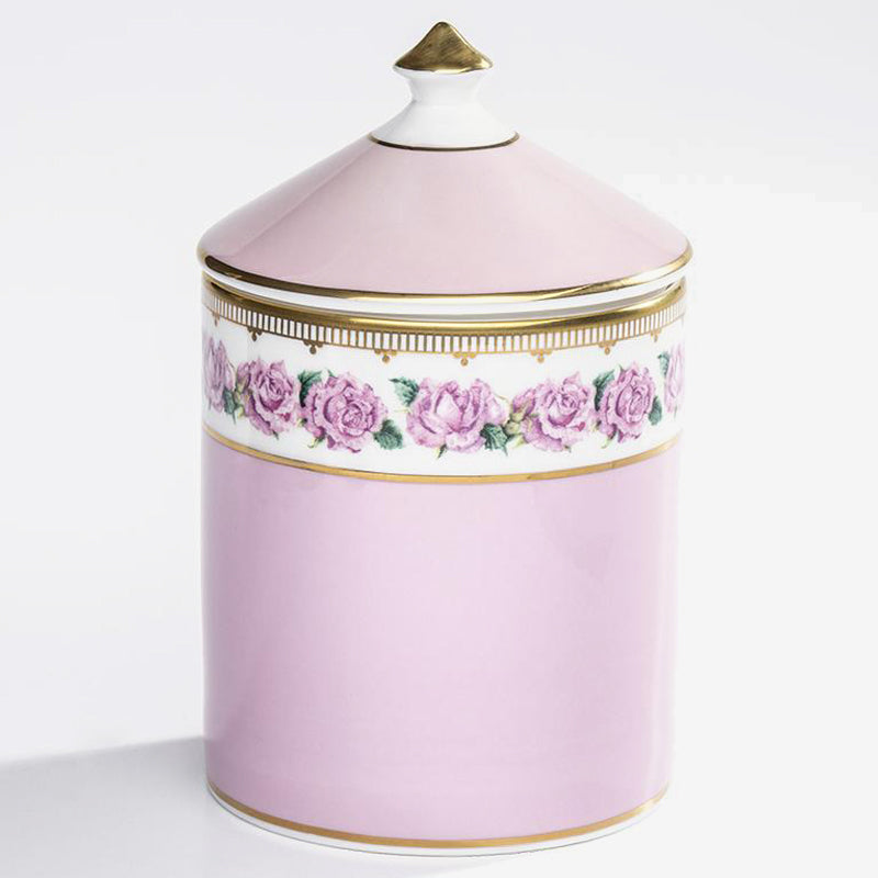 Shell Garden Rose Scented Lidded Candle