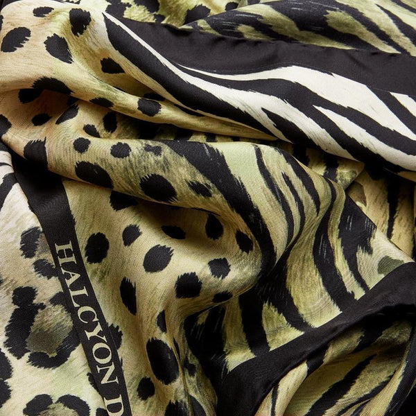 Animal Print Silk Scarf