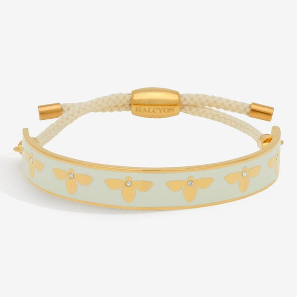 Bee Sparkle Cream & Gold Friendship Bangle