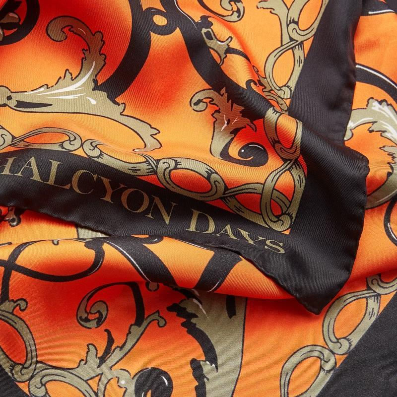 Wallace Ballustrade Orange Silk Scarf