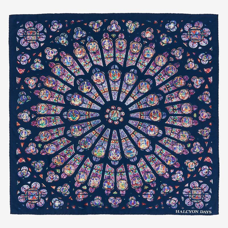 The Rose Window of Notre-Dame Silk Scarf