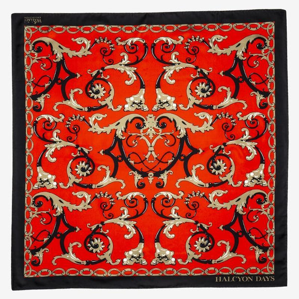 Wallace Ballustrade Red Silk Scarf
