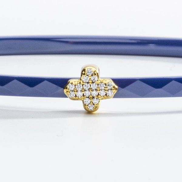 Single Agama Pave Bangle Deep Cobalt  & Gold