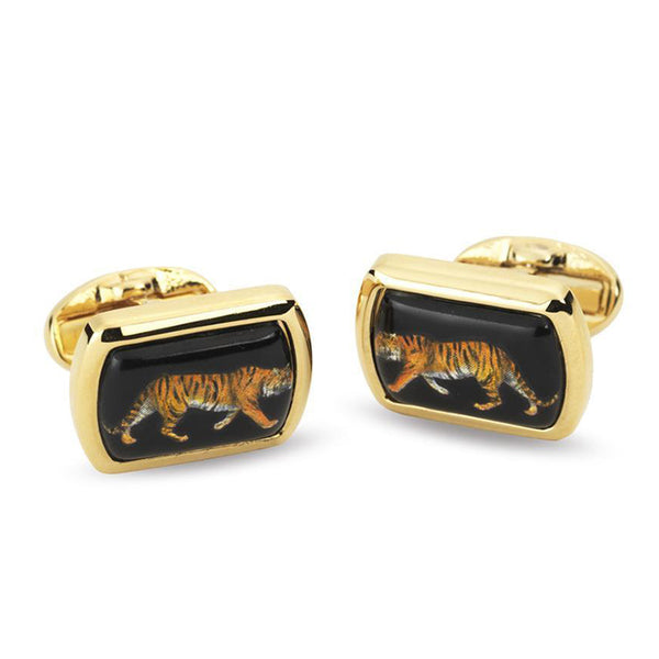 Tiger Rectangular Cufflinks