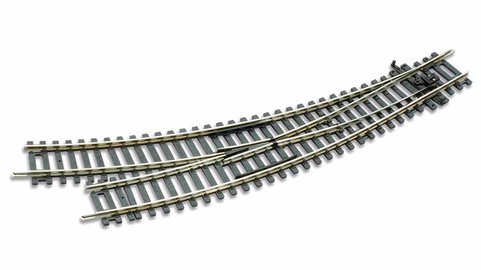 PECO ST-244 OO/1:76 RIGHT HAND CURVED TURNOUT/POINTS - (PRICE INCLUDES DELIVERY)
