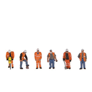 BACHMANN SCENECRAFT 36-049 OO TRACKSIDE WORKERS - (PRICE INCLUDES DELIVERY)