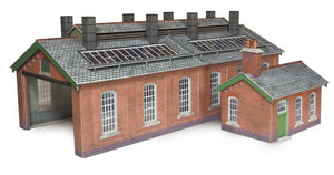 METCALFE PO313 OO/1:76 ENGINE SHED DOUBLE TRACK - (PRICE INCLUDES DELIVERY)