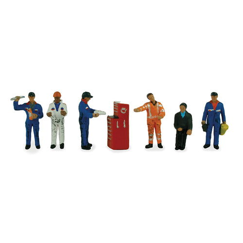 BACHMANN SCENECRAFT 36-051 OO TRACTION MAINTENANCE DEPOT WORKERS - (PRICE INCLUDES DELIVERY)