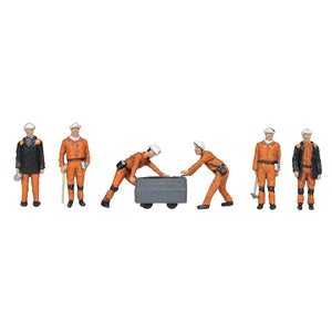 BACHMANN SCENECRAFT 36-400 OO 1960/70 COAL MINERS - (PRICE INCLUDES DELIVERY)