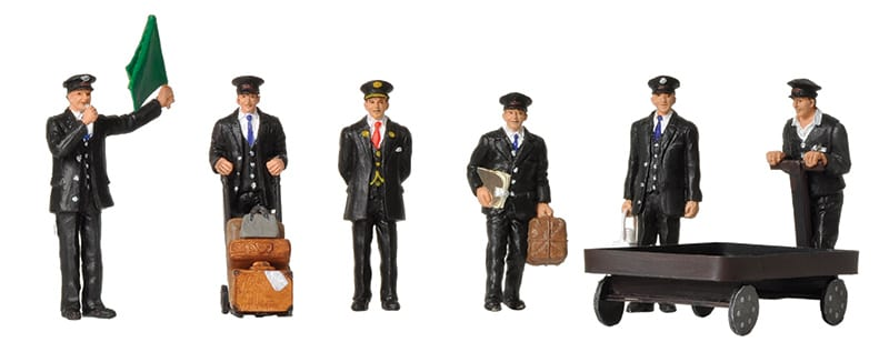 BACHMANN SCENECRAFT 36-404 OO 1940/50 STATION STAFF - (PRICE INCLUDES DELIVERY)