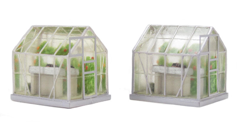 BACHMANN SCENECRAFT 44-515 OO/1.76 GREENHOUSES X2 - (PRICE INCLUDES DELIVERY)