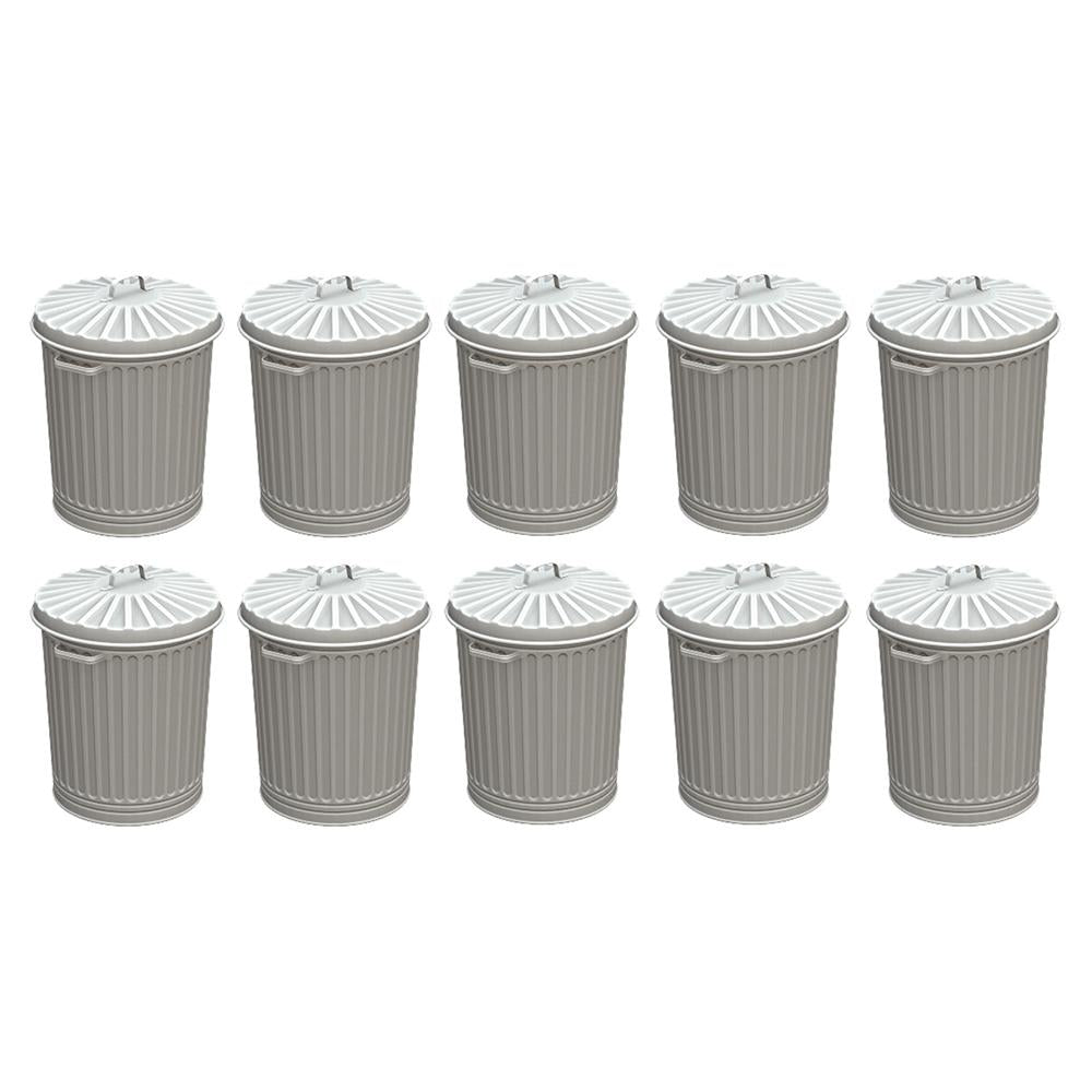 BACHMANN SCENECRAFT 44-522 OO/1.76 OLD STYLE DOMESTIC DUSTBINS - 10) (PRICE INCLUDES DELIVERY)