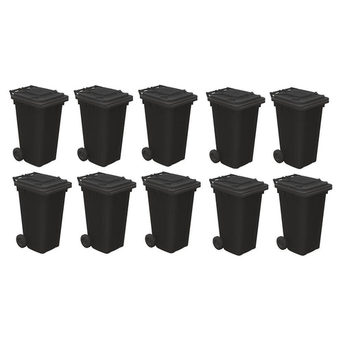 BACHMANN SCENECRAFT 44-525 OO/1.76 DOMESTIC WHEELIE BINS (X10) - (PRICE INCLUDES DELIVERY)