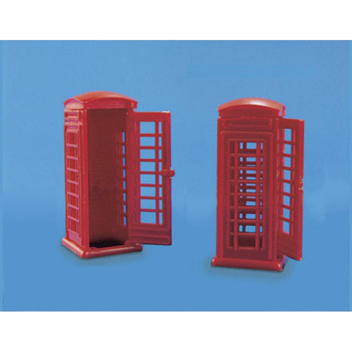 PECO MODEL SCENE 5006 OO/1:76 TELEPHONE BOXES (2) - (PRICE INCLUDES DELIVERY)