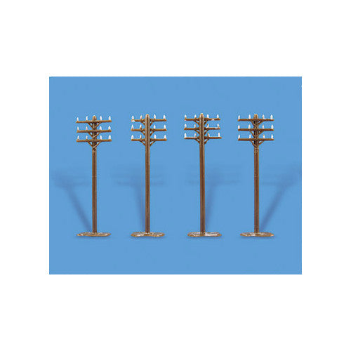 MODEL SCENE ACCESSORIES NO.5182 N GAUGE TELEGRAPH POLES - (PRICE INCLUDES DELIVERY)