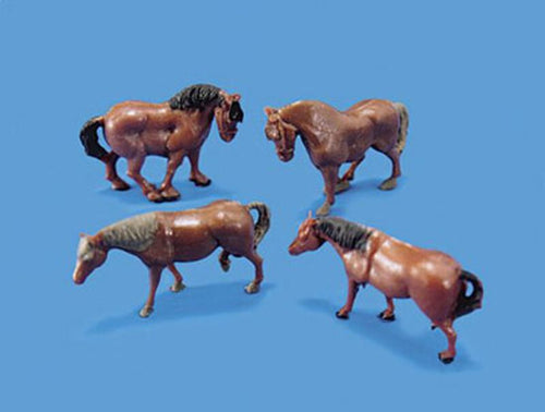 MODEL SCENE ACCESSORIES NO.5105 OO/1:76 HORSES & PONIES - (PRICE INCLUDES DELIVERY)