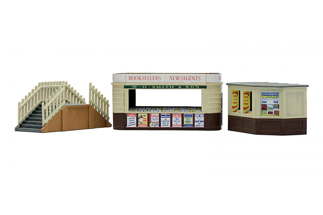 DAPOL C018 OO/1:76 KIOSKS & PLATFORM STEPS - (PRICE INCLUDES DELIVERY)