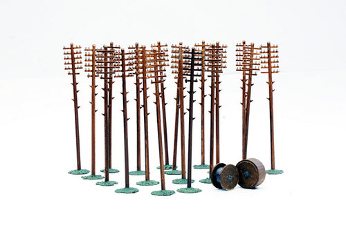 DAPOL C024 OO/1:76 TELEGRAPH POLES (20 IN PACK) - (PRICE INCLUDES DELIVERY)
