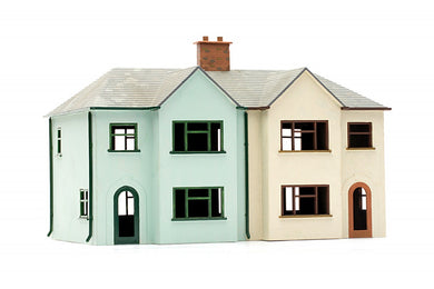 DAPOL C057 OO/1:76 PAIR OF SEMI DETACHED HOUSE - (PRICE INCLUDES DELIVERY)