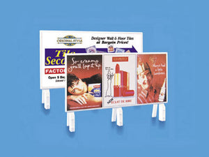 MODEL SCENE ACCESSORIES NO.5040 OO/1:76 HOARDINGS (2) MODERN ERA - (PRICE INCLUDES DELIVERY)