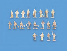 Load image into Gallery viewer, MODEL SCENE ACCESSORIES NO.5156 N GAUGE UNPAINTED FIGURES-SET A - (PRICE INCLUDES DELIVERY)
