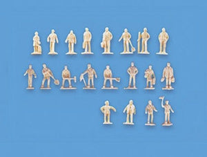 MODEL SCENE ACCESSORIES NO.5156 N GAUGE UNPAINTED FIGURES-SET A - (PRICE INCLUDES DELIVERY)