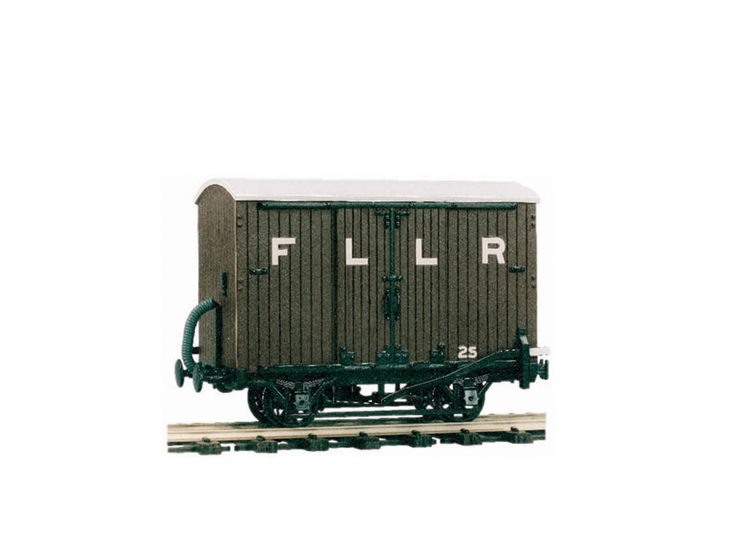 PECO GREAT LITTLE TRAINS OR-25 0-16.5 NARROW GAUGE 4 WHEEL BOX VAN KIT - (PRICE INCLUDES DELIVERY)