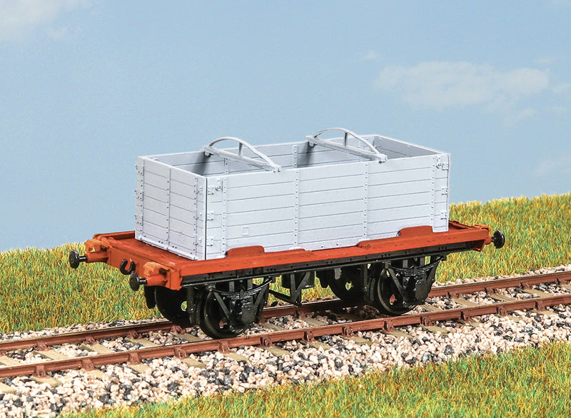 PARKSIDE MODELS PC35 OO/1:76 'CONFLAT S' CONTAINER WAGON WITH DX OPEN CONTAINER - (PRICE INCLUDES DELIVERY)