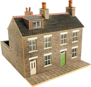 METCALFE PN104 N GAUGE STONE BUILT TERRACED HOUSES - (PRICE INCLUDES DELIVERY)